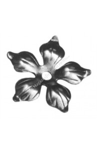 138/4 Floare forjata cu 5 petale D.90mm G.2mm