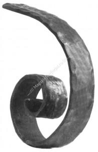 116/16 Terminatie in forma de MELC pentru mana curenta 114/12 cu H.145mm x L.110mm din 40x8mm