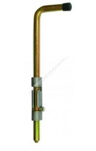 Zavor zincat sudabil vertical cu pregatire lacat H.300mm D.16mm