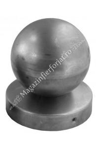 62.090.09 Capac pentru teava rotunda de D.90mm cu bila goala de D.90mm
