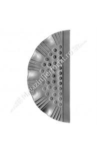 63.101 Placa forjata poarta G=3mm 275x130 mm