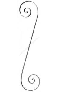 72/8 Ornament S din 20x4mm H=820 mm L=190 mm