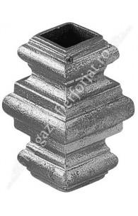 1390/5 Pafta turnata din aliaj fier-fonta cu interiorul pentru patrat de 17x17mm cu H.65mm x L.40mm