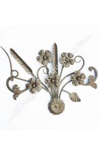 13.257 Panou medalion Buchet Floral 430x400mm cu frunze si flori
