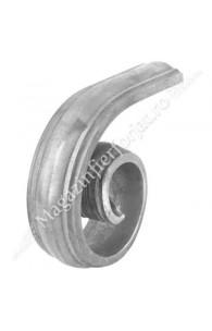 1817/9 Terminatie in forma de MELC pentru mana curenta 1373/4 cu H.150mm x L.125mm