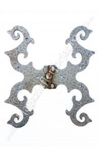 61.303 Balama din fier forjat 250x225x4mm pentru porti sau usi mari din lemn