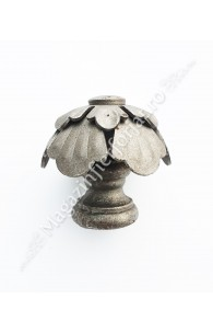 63.009 Maner fix fier forjat cu forma de floare D.65mm cu baza sudabila D.40mm, H.70mm