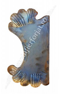 63.121 Placa de mascare pentru poarta 330x180mm din tabla forjata de 3mm pt. partea Stanga