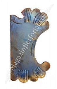 63.122 Placa de mascare pentru poarta 330x180mm din tabla forjata de 3mm pt. partea Dreapta