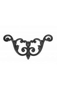 756/15 Ornament coltar turnat din fier-fonta 347x180x15mm