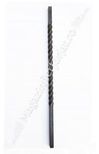 UNV71.2 Stalp de balustrada cu H.1200mm din fier PLIN 30x30mm rasucit pe o portiune de 700mm
